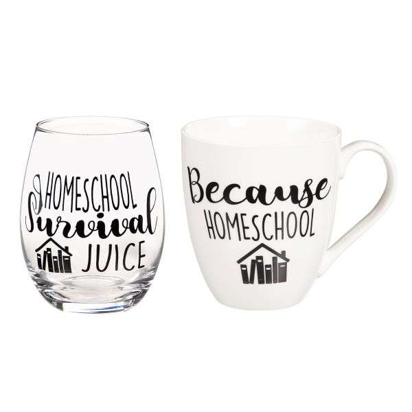 HOMESCHOOL MUG & WINE GLASS SET Thumbnail