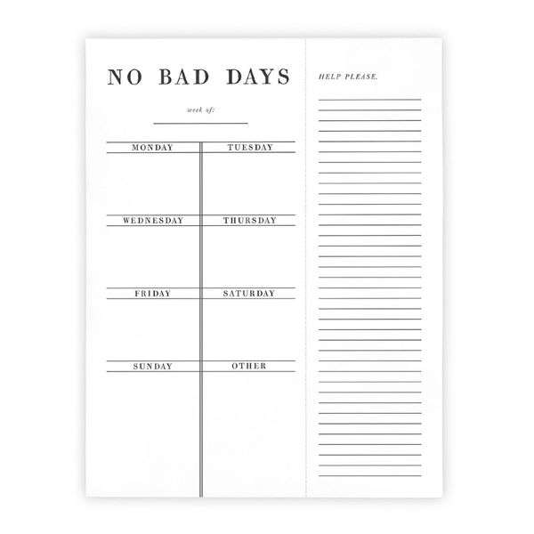 NO BAD DAYS LIST PAD Thumbnail