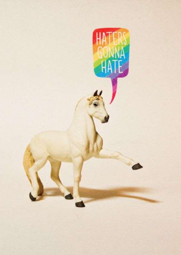 HATERS GONNA HATE UNICORN CARD Thumbnail