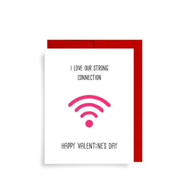 STRONG CONNECTION VALENTINES CARD Thumbnail